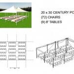 20X30 POLE 8' TABLE